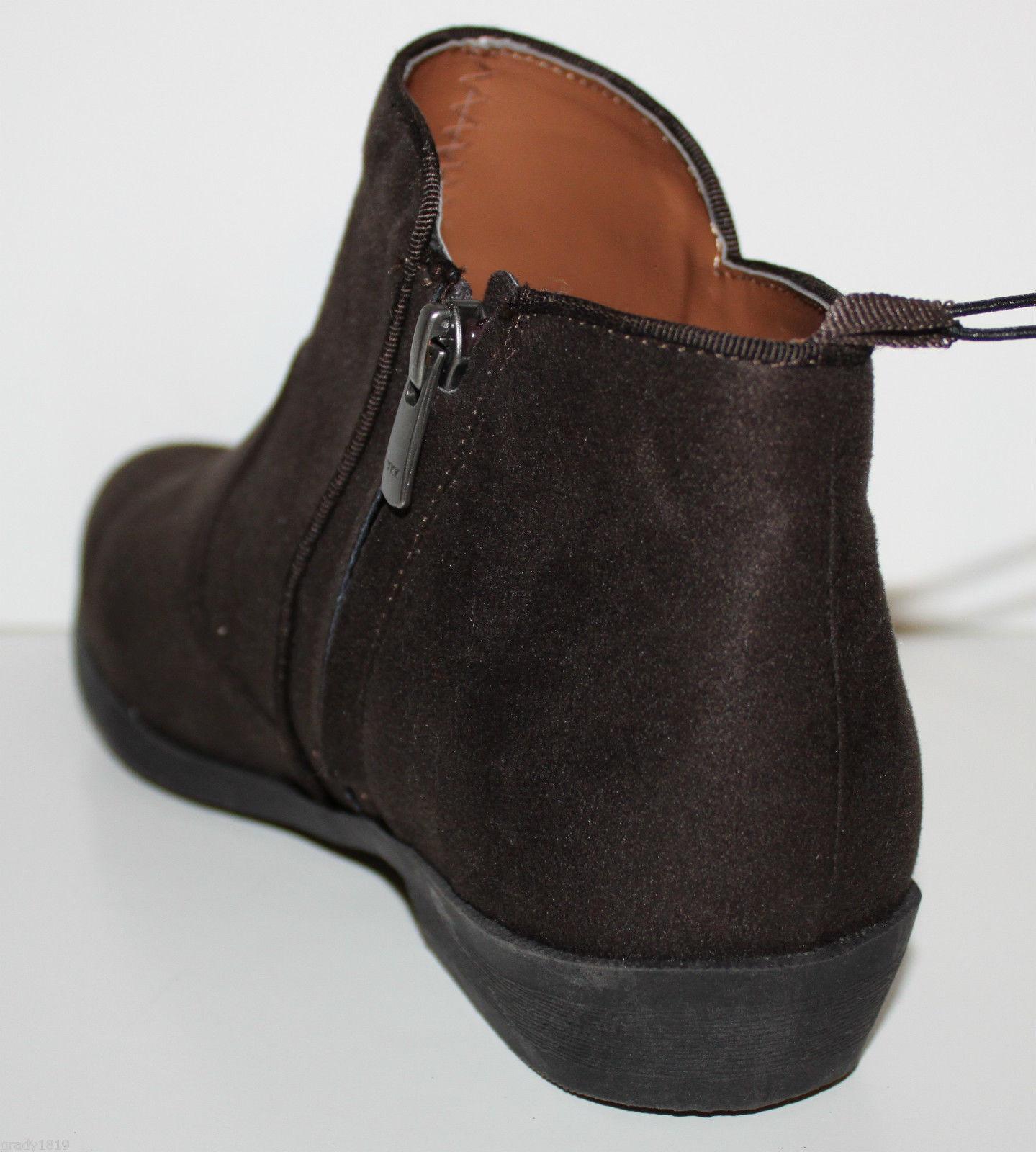 Gap Nuevo Con Etiquetas Para Mujer 8 Botas al Botines tobillo Botines al pelo marrón oscuro con cremallera de imitación de gamuza Pantorrilla 6ac60f