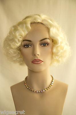 White Blonde Blonde Medium Skin Top Wavy Curly Costume Wigs