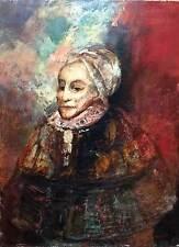 François Heaulmé (1927-2005) huile sur toile portrait femme signé