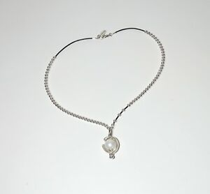 Collar de perla-collar laogo-collar uno de 50 favoritos-hecha a mano