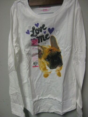 TOO CUTE!!!! Hanes Girls/' Long-Sleeve Puppy Love Me Crewneck Tee; Many Sizes
