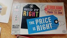 Bid It Right, THE PRICE IS RIGHT 1964 Board Game  Milton Bradley 4407 Vintage