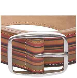 Cinturon-para-hombre-Paul-Smith-BNWT-Vintage-firma-Stripe-Multi-Cinturon-PVP-125-00