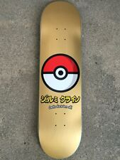 "HOOK UPS JK INDUSTRIES POKEBALL GOLD 8"" SKATE SKATEBOARD NEW RARE POKEMON"