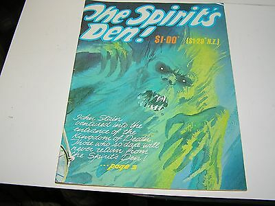 VINTAGE  HORROR COMIC , THE SPIRITS DEN  . FIRST ISSUE . ??