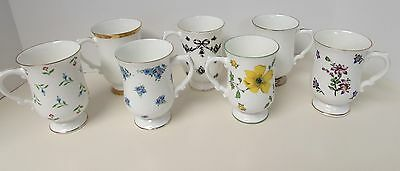 7 ROYAL VICTORIA Fine Bone China IRISH COFFEE MUGS  England