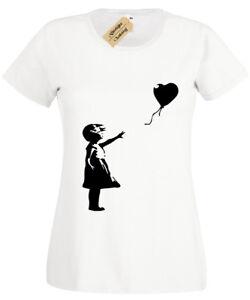 Banksy-Girl-With-Balloon-Womens-Ladies-T-Shirt-Funny-Urban-Graffiti-Art-Banksey