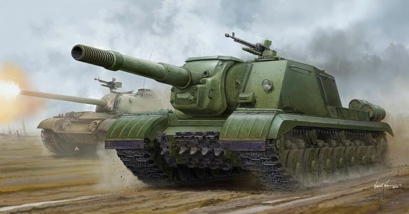 Trumpeter Soviet JSU-152K Armored Self Propelled Gun Tank 1 3 5 Kit 05591