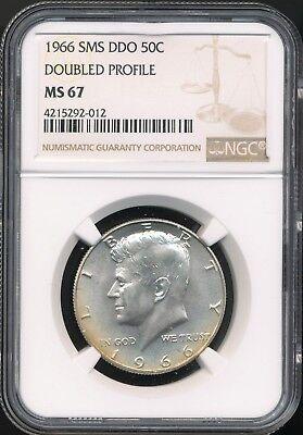 1966 SMS Kennedy Half Dollar NGC graded MS 67