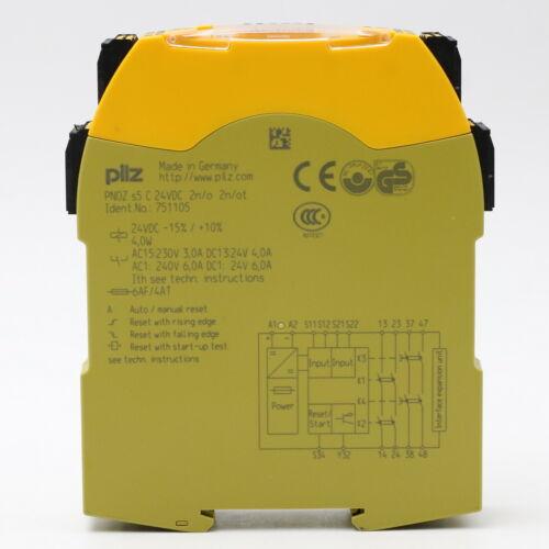 Pilz 751105 Sicherheitsrelais PNOZ s5 C 24VDC 2n//o 2n//ot