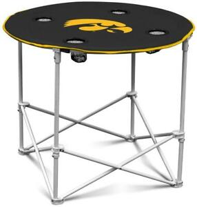 Fabulous Details About Iowa Hawkeyes Round Tailgate Table New Ncaa Portable Chair Fold Party Beatyapartments Chair Design Images Beatyapartmentscom