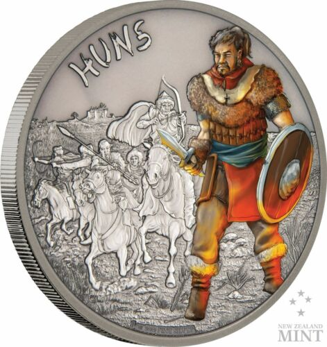 Huns 1 oz Coin #10//10 Warriors Of History 2017 Niue