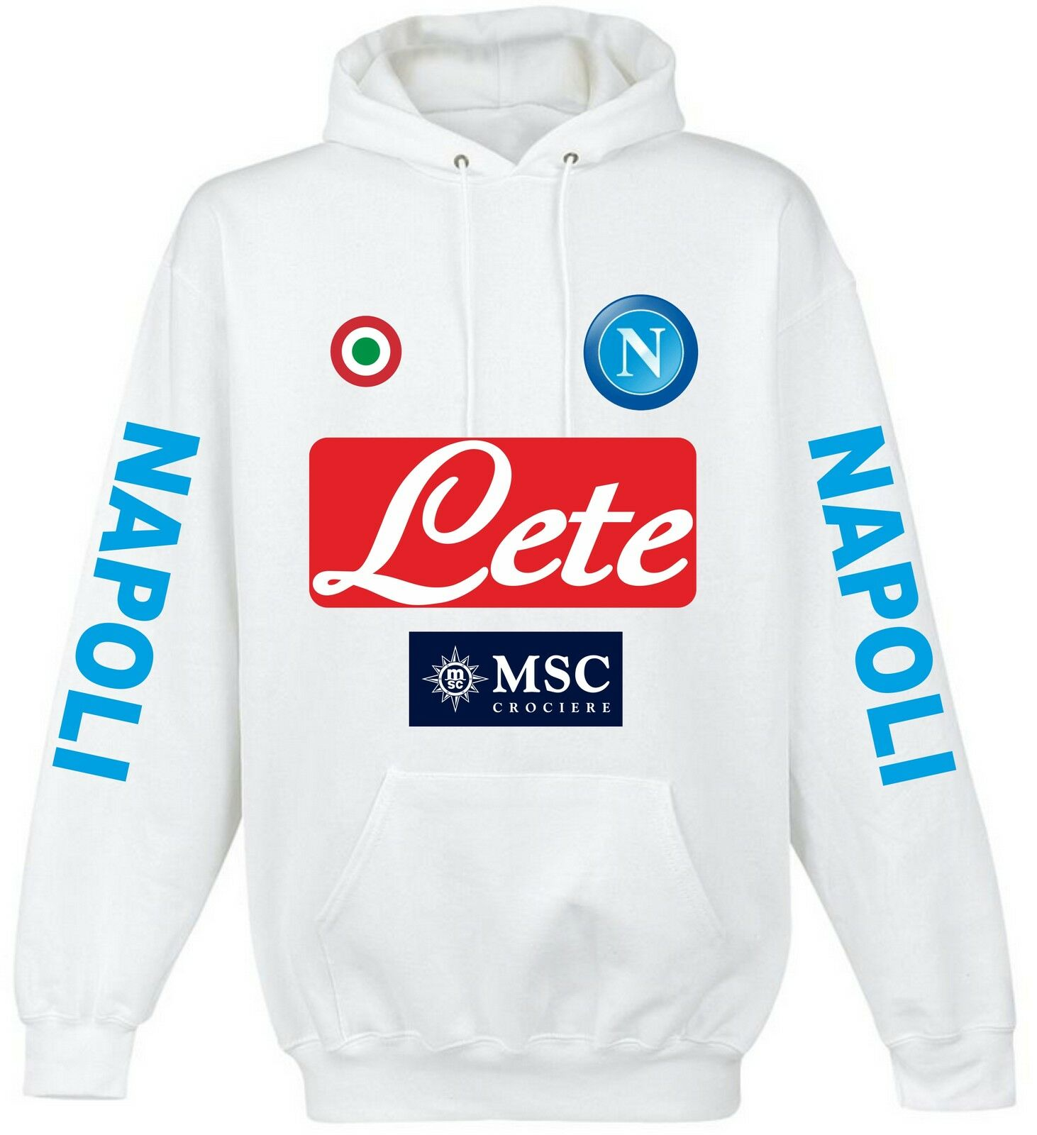 SWEATSHIRT NAPLES WHITE FOOTBALL A league ITALIE WHITE POLO shirt t-shirt