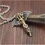 Silber-Gold-Edelstahl-Anhaenger-Halskette-Kette-Punk-Drachen-Schwert-Wing Indexbild 3