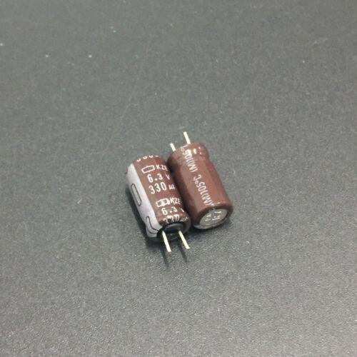 20pcs 6.3V 330uF 6.3V NCC Nippon KZE 6.3x11mm Low ESR Motherboard Capacitor