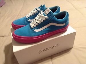ac1519fb2103 VANS Golf Wang Syndicate Old Skool Blue Pink Size 8.5 AUTHENTIC