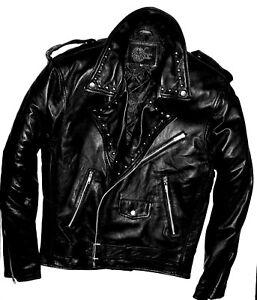 mano de cuero M Chaquetas Por Xl a Studsbydesign Tachonado negras L Personalizar Hombres vintage wHSq7S6