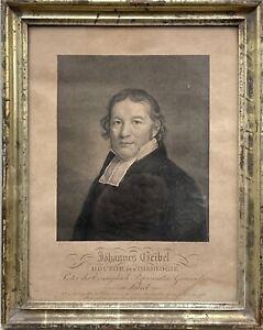 Bilderrahmen Berliner Leiste Gold Auguste Hüssener 1789-1877 Johannes Geibel