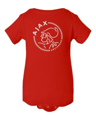 Ajax Amsterdam Soccer Logo Little Infant Baby Bodysuit