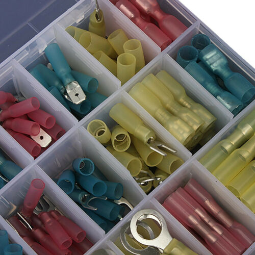 240 X High Quality Car Heat Shrink Insulated Crimp Terminals Connector With Case