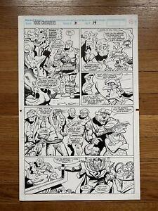VINTAGE-MARVEL-COMICS-TOXIC-CRUSADERS-ISSUE-3-PAGE-19-ORIGINAL-ART-AVENGER-1992