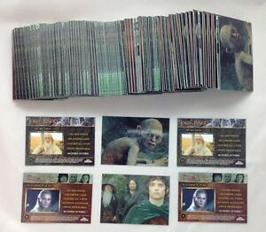 Lot-of-75-Sets-2004-Topps-Chrome-The-Lord-of-The-Rings-Trilogy-P1-P2-Promo-Set