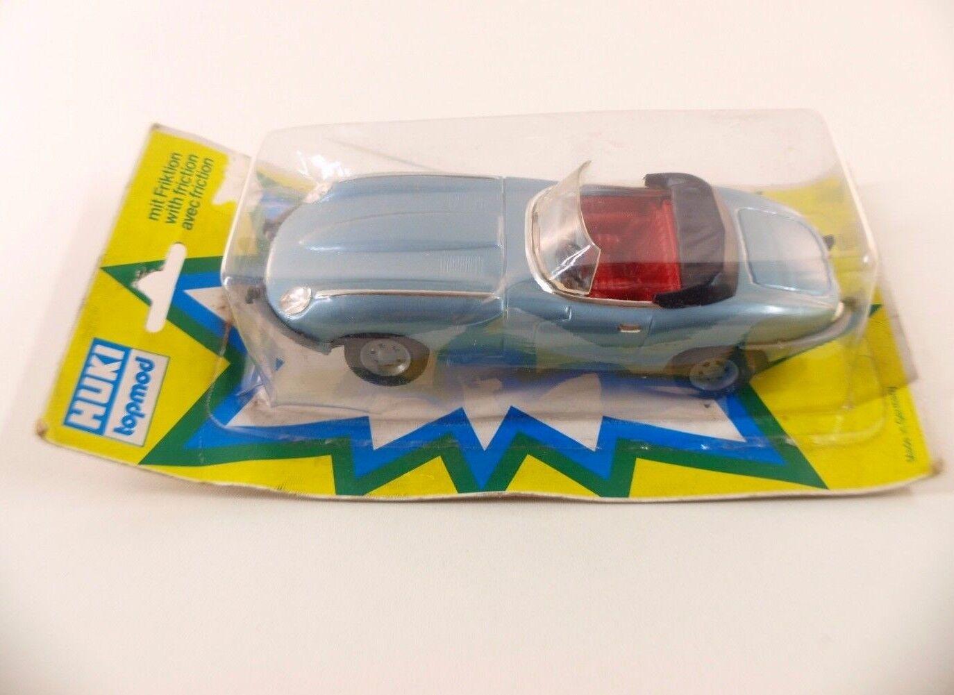 HUKI Topmod 202 Jaguar E  Type Roadster Cabrio friction 15 cm neuf boxed  boite