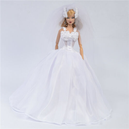 """Sherry Wedding dress Outfit for Fashion Royalty Doll 11.5-12/"""" doll 6CS-hs01"""