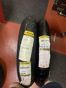 Dunlop 90/80/17 115/75/17 Moto 3 Slick Race Tyres 125 Cbr Gsxr Yzf Gp