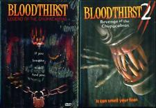 BLOODTHIRST 1&2: Legend+Revenge of Chupacabras NEW 2DVD