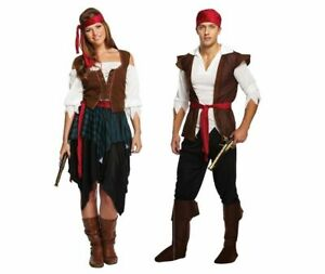 PIRATE-CARIBBEAN-Fancy-Dress-Costume-Mens-Ladies-Couples-Adults-Accessories