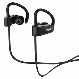 f831bbeb589 Image is loading AUKEY-Wireless-Headphones-Sports-Earphones -Mic-Noise-Reduction-