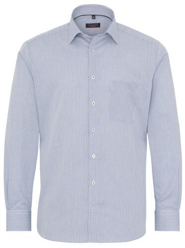 ETERNA Langarm Business Hemd Modern Fit Kent blau weiß Kariert 3178.17.X19P