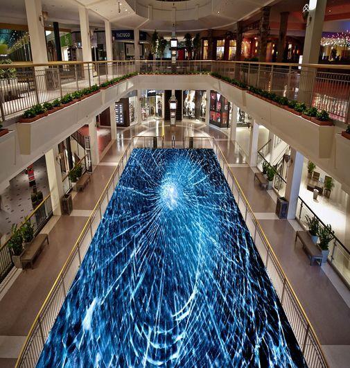 3D Blau Pattern Art Floor WallPaper Murals Wall Print Decal 5D AJ WALLPAPER