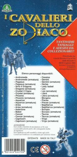 Giochi Preziosi CAVALIERI DELLO ZODIACO -G2 4 TATUAGGI E 4 ADESIVI SAINT SEYA