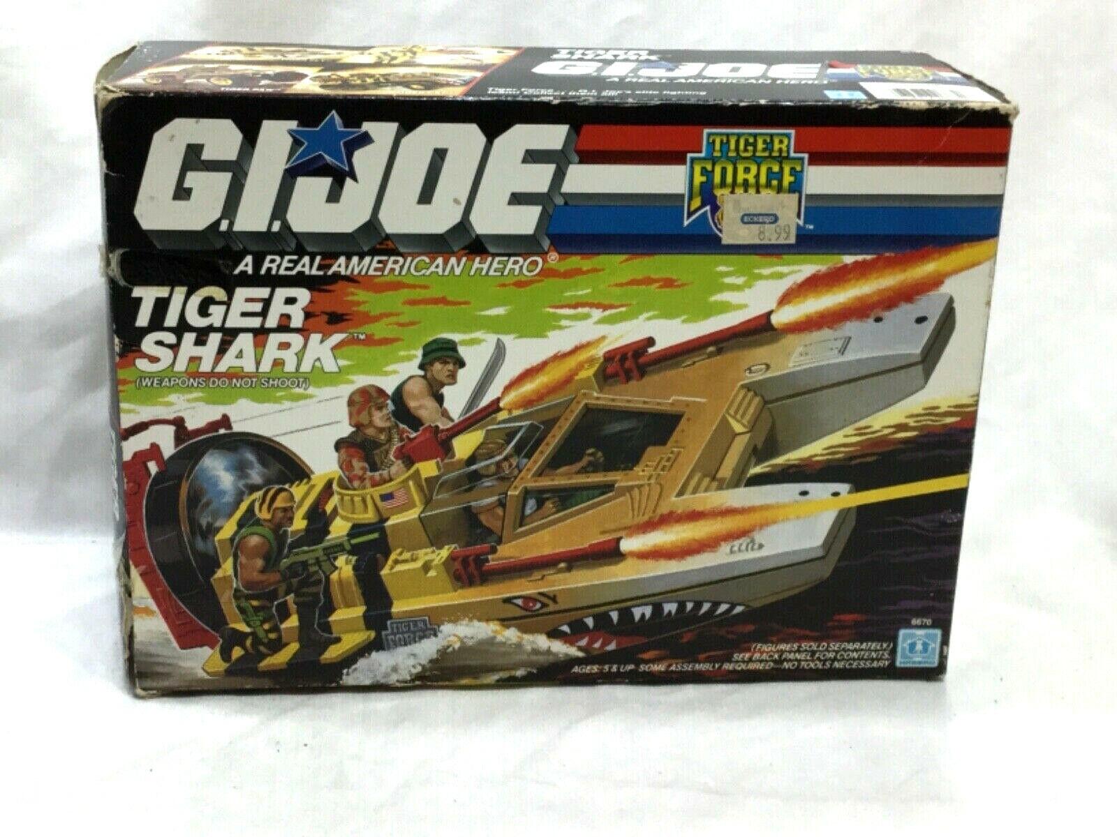 1988 Vintage Hasbro GI Joe ARAH Tiger Force Tiger Shark Boat Complete Boxed RARE