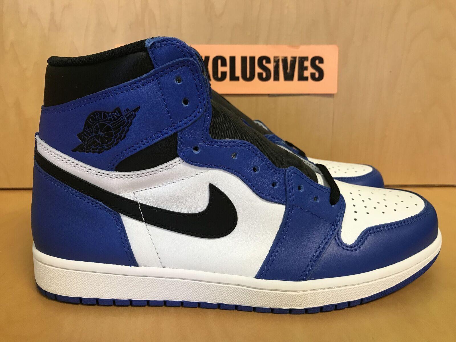 Nike air jordan 1 retrò sono alti og blu reale, neri e bianchi 555088-403 2018