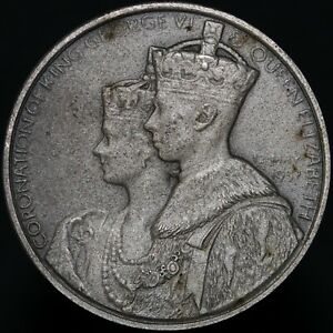 1937-George-VI-amp-Queen-Elizabeth-039-HMV-039-Coronation-Medal-KM-Coins