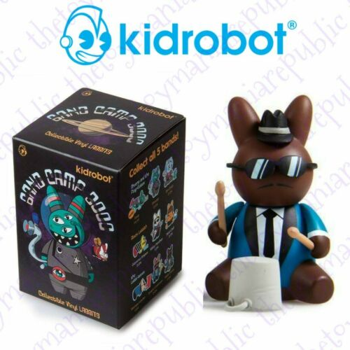 Set 3 Kidrobot Labbit Band Camp 3000 Mini Series Figure The Labbi-Tones Band