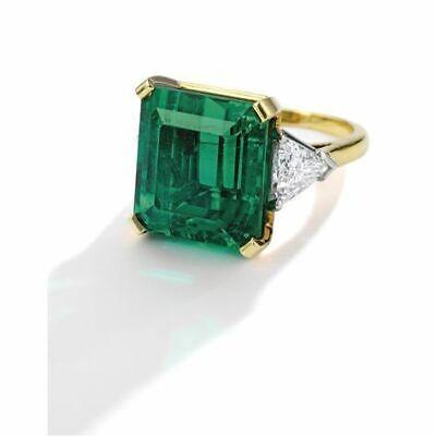 925 Sterling Silver 4.72.ct Emerald Cut Antique Art Deco Vintage Engagement Ring