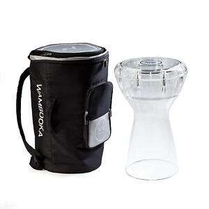 Wambooka-Diamond-Clear-Darbuka-Dry-Wet-Hand-Drum-DOUMBEK-With-w-Gig-Bag