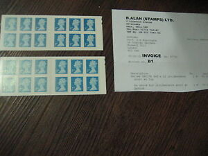 ERROR MISTAKE 2 X SAC170 BARCODE BOOKLET STAMPS IRIDESCENCE SHORT BOTTOM
