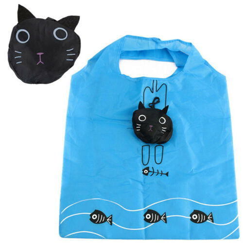 Foldable Recycle Shopping Bag Reusable Shopping Tote Bag Cartoon Pouch Grocery@