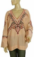 137697 New Odd Molly Embroidered Lace Long Sleeve Tunic Top Large L 3