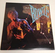 David Bowie Let's Dance Autographed Vinyl Record Original 1983 EMI Pressing VG+