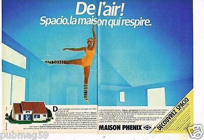2 Pages Publicité Advertising 1984 Maison Phenix