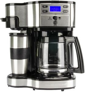 Coffee Maker Person Called : Hamilton Beach 2 Way Single Serve or 12 Cup Programmable Coffee Maker 49980Z