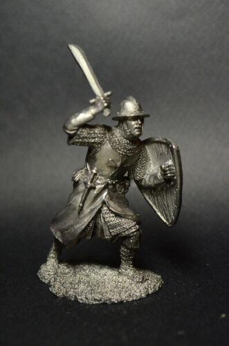 Dose Soldat Knecht Der Teutonischen Bestellung 13 Century Figur Metall 54 MM