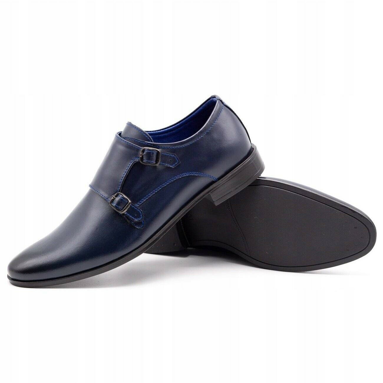 Lukas Leather formal shoes Monki 287LU navy blue