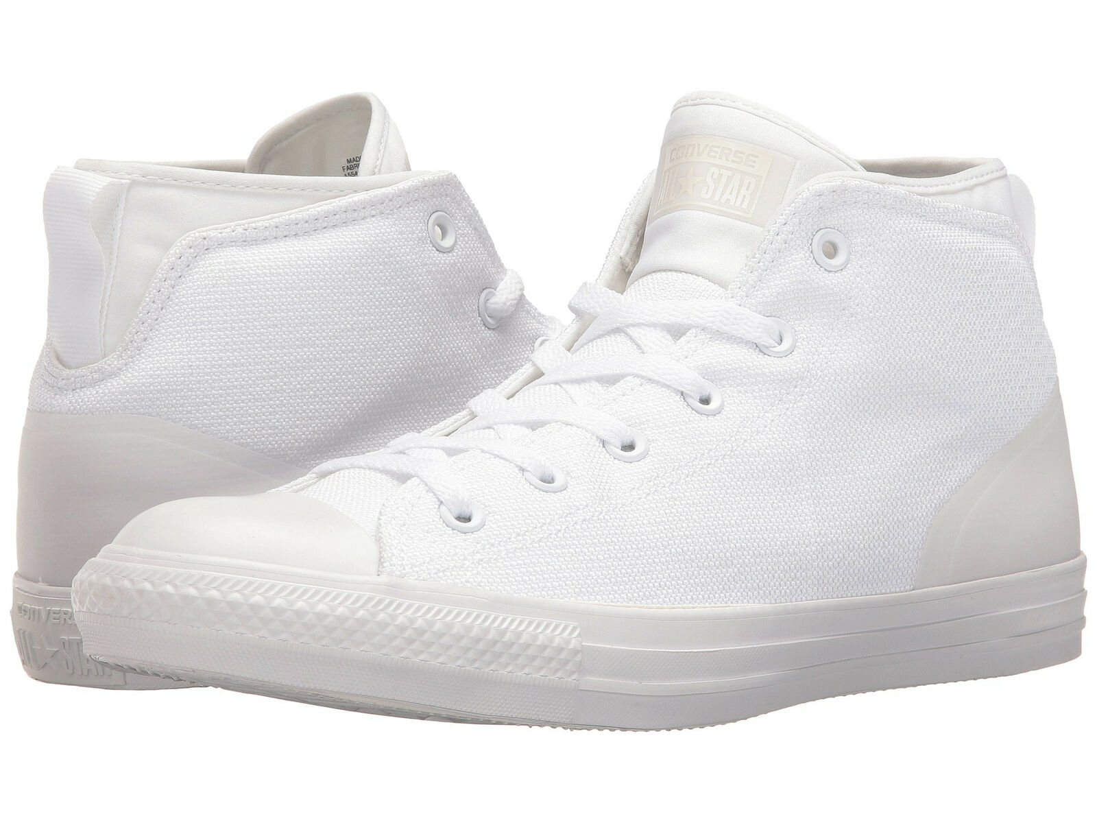 Converse Unisex Chuck Taylor All Star Syde Street Mid White Sneaker shoes